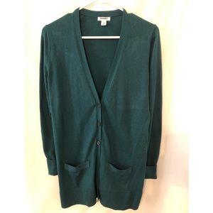 Old Navy green cardigan size medium